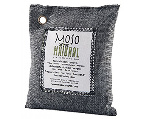 1. Moso Natural Air Purifying Bag. Odor Eliminator for Cars, Closets, Bathrooms and Pet Areas.