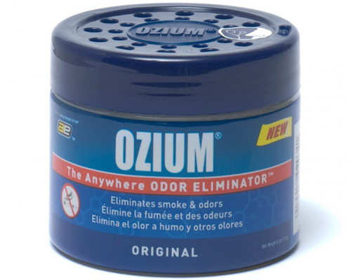 2. Ozium Smoke & Odors Eliminator Gel. Home, Office and Car Air Freshener 4.5oz (127g), Original Scent