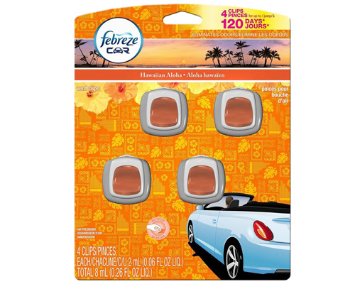 3. Febreze Hawaiian Aloha Car Vent Clip Air Freshener