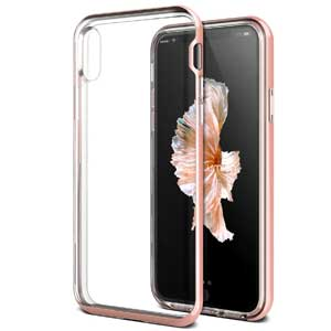 4. iPhone X Case, (Diamont - Rose Pink)