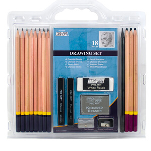 3. Pro Art 18-Piece Sketch/Draw Pencil Set