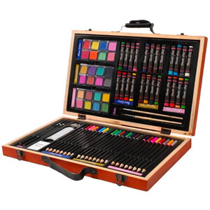 4. Darice 80-Piece Deluxe Art Set