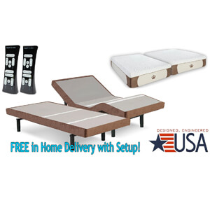 3 DynastyMattress Split King 12-Inch CoolBreeze GEL Memory Foam Mattress