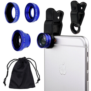3. CamKix Universal Cell Phone Camera Lens Kit