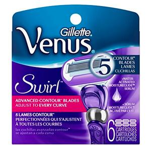 5. Gillette Venus Women's Swirl 5 Contour Blade