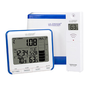 10. La Crosse Technology Wireless Rain Gauge with Thermometer