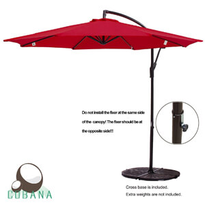 9. COBANA Patio Umbrella Freestanding