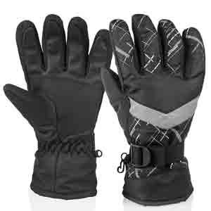 9. HUO ZAO Winter Snow Ski Gloves