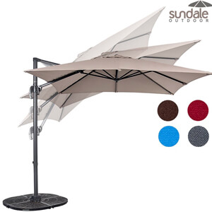 7. Sundale Outdoor Hanging Roma Offset Umbrella