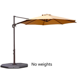 1. Le Papillon Offset Patio Umbrella