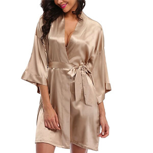 8. WitBuy Short Wedding Sleepwear