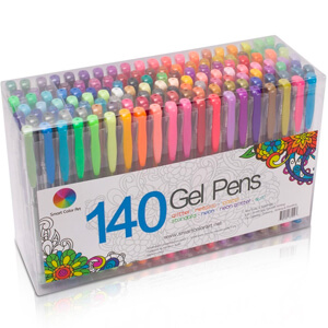 9. Smart Color Art 140 Colors Gel Pens Set