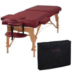 4 Heaven Massage Two Fold Burgundy Portable Massage Table