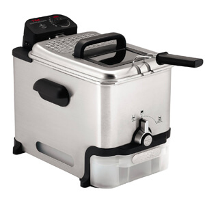 4 T-fal FR8000 Oil Filtration Stainless Steel Immersion Deep Fryer