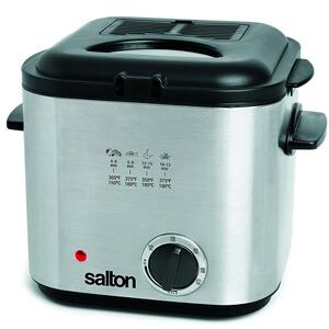 8 Salton DF1539 Compact Deep Fryer, Stainless Steel