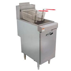 9 JET JFF3-40N Stainless Steel Commercial Heavy Duty Floor Gas