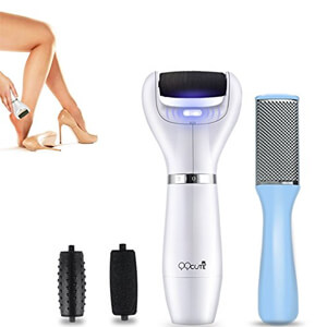 4 QQCute Electric Callus Remover with Stainless Steel Blade