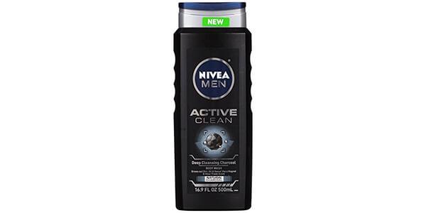 10. NIVEA Men Active Clean Body Wash