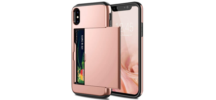 Samonpow Rose Gold iPhone XS case